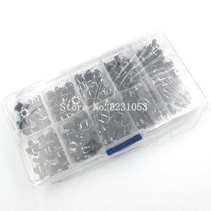 "Image 4 - 10 מודלים 200pcs 6*6 מתג טקט לחצן מגע מתג ערכת, גובה: 4.3MM ~ 13MM מח""ש 4P מיקרו מתג 6x6 מפתח מתג"