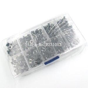 Image 4 - 10 modelos 200 Uds 6*6 Interruptor táctil Kit de interruptor de botón pulsador, altura: 4,3 MM ~ 13MM DIP 4P micro Switch 6x6 Key Switch