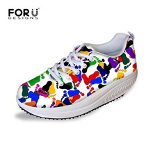 Fashion Light Weight Women Wedge Shoes Spring Summer Autumn Fitness Health Swing Shoes Female Lace Zapatillas Shoes High Quality
