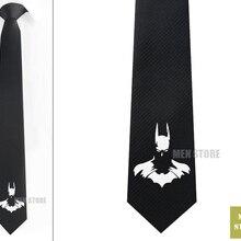 """Крутой Мужской Жаккардовый тонкий узкий галстук с Бэтменом 2,"""" 6 см галстук свадебный галстук для жениха запонки LK062M"""