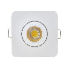 10 шт./лот, регулируемый 3W, COB, светодиодный светильник, s, поверхностный монтаж, потолочный Точечный светильник, Круглый/квадратный Точечный светильник для спальни, AC90-260V, DC12V