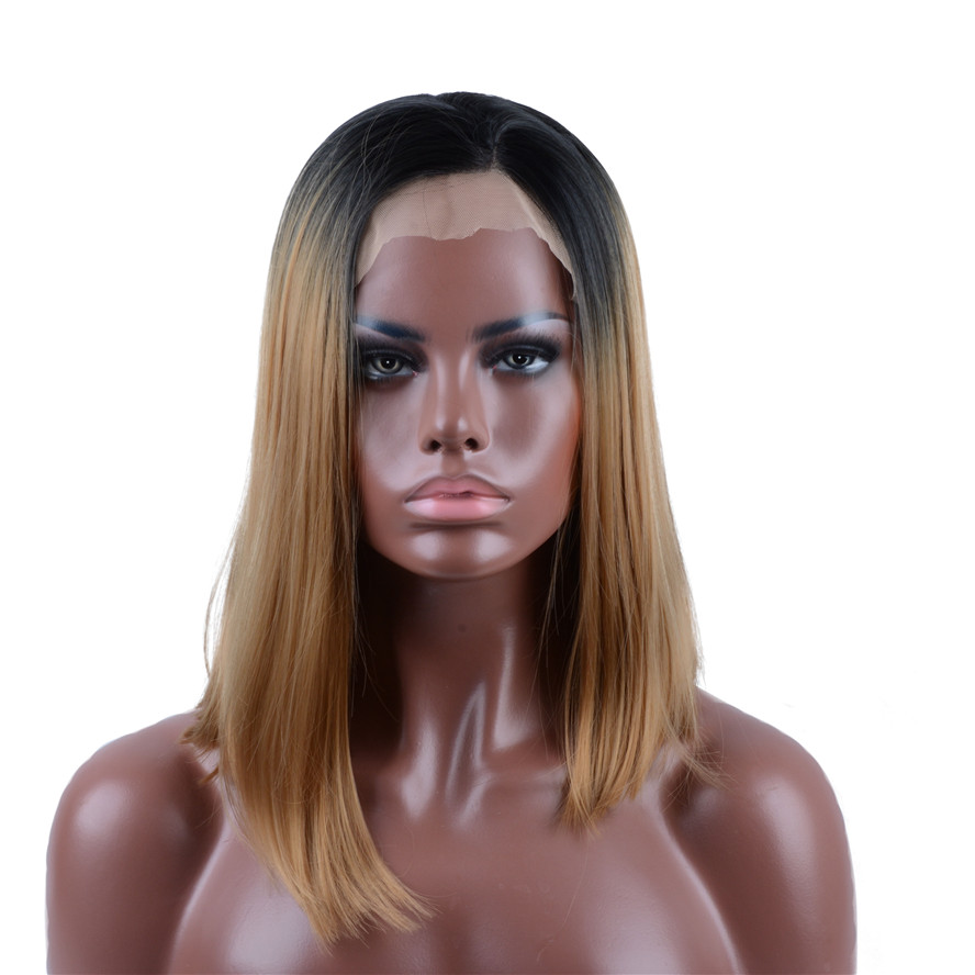 Strongbeauty Women S Ombre Light Brown Lace Front Wigs