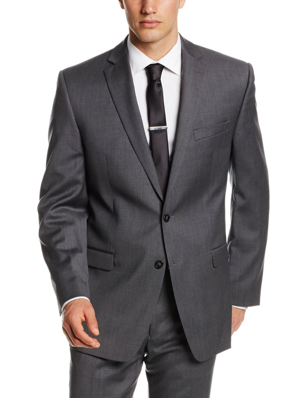 Top Selling custom made New /Dark grey Two Piece Suit with Jacket ...