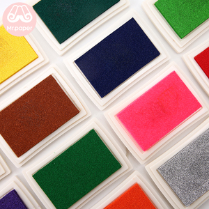 Mr Paper 15 Colors Inkpad Handmade DIY Craft Oil Based Ink Pad for Fabric Wood Paper Scrapbooking Ink pad Finger Painting