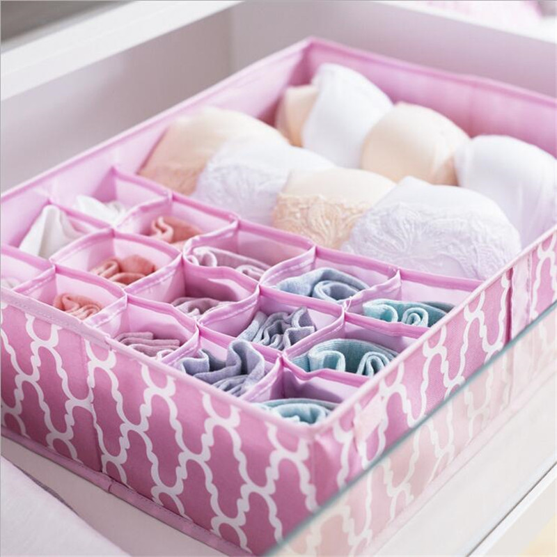 16 Cell Detachable Women Underwear Bra Storage Organizer Drawer Closet Organizers Boxes For Underwear Socks Bra Storage Holder