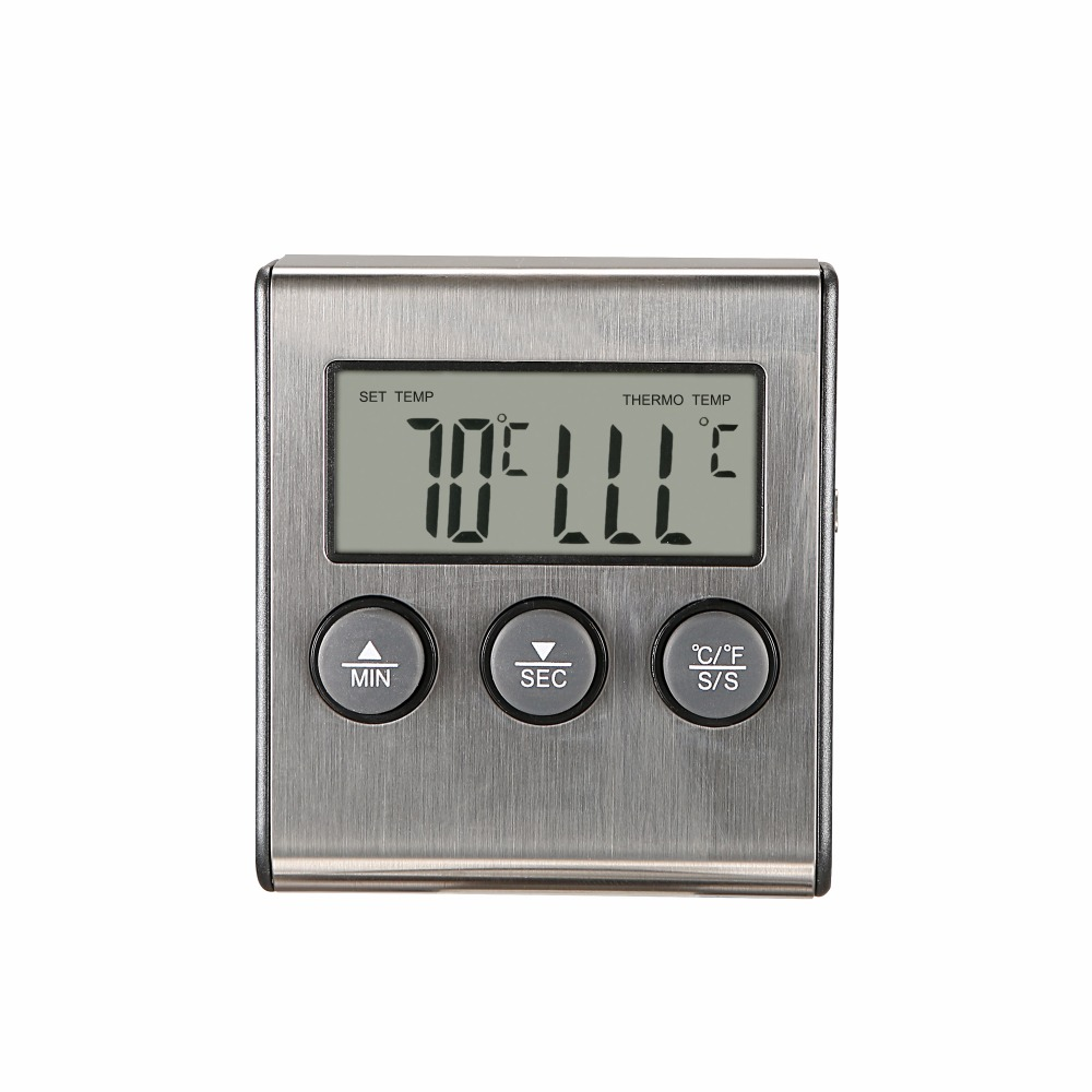 MOSEKO Digital Food Thermometer with High Temperature Alarm Function and 0 to 250 Degree Celsius Temperature Range Made of Stainless Steel 1