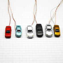 Led 12V Light cars for architecture scale model 1:200 model trains layout plastic cars