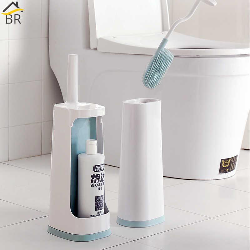 Flexible Tpr Toilet Brush With Holder