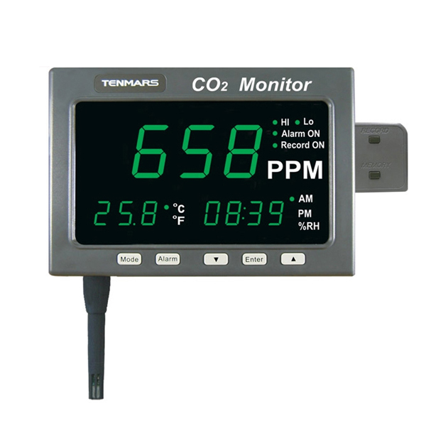 Tools Temperature Instruments Tenmars Tm-186 Large Led Screen Co2/temp/rh Monitor Possessing Chinese Flavors