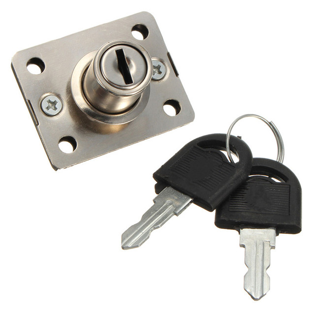 Mtgather Desk Drawer Dead Bolt Lock For Drawers Box Cabinet Cupboards Panel Two Keys Easy Installation