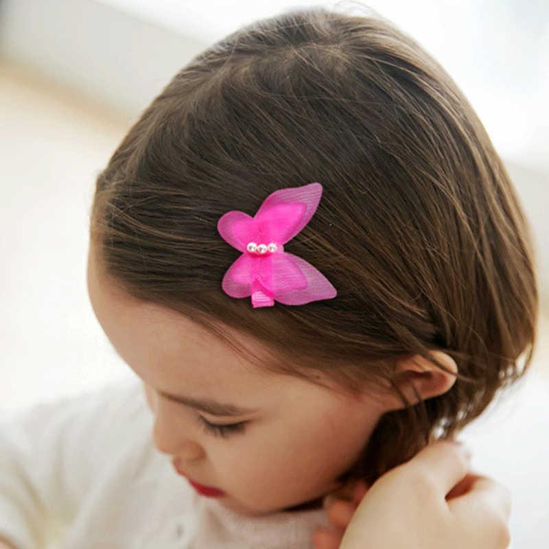 תינוק סיכת ראש בנות שיער סיכות ילדי ראש אביזרי פניני רשת פרפר קליפ ילדי שיער פין עבור פעוט ילדה קליפים