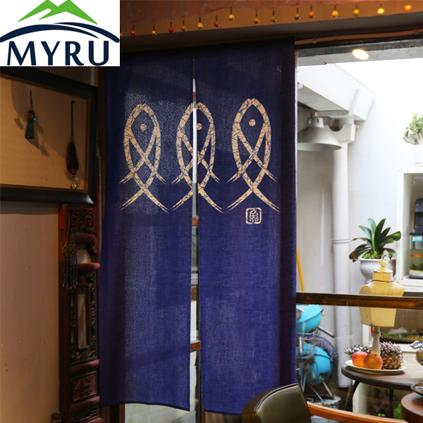 MYRU porta in stile Giapponese tenda blu tenda tende camera da letto ...