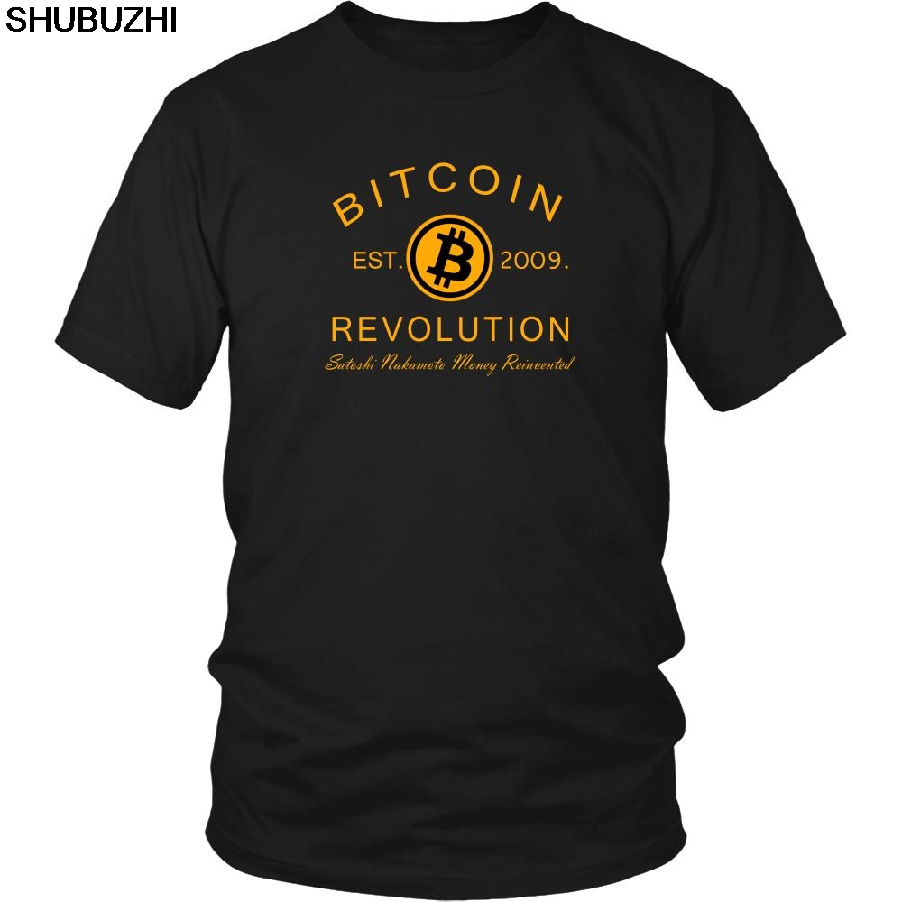 BITCOIN REVOLUTION SHIRT - BITCOIN CRYPTO SHIRT - CRYPTO CURRENCY T-SHIRT Cool Casual pride t shirt men Unisex Fashion tshirt