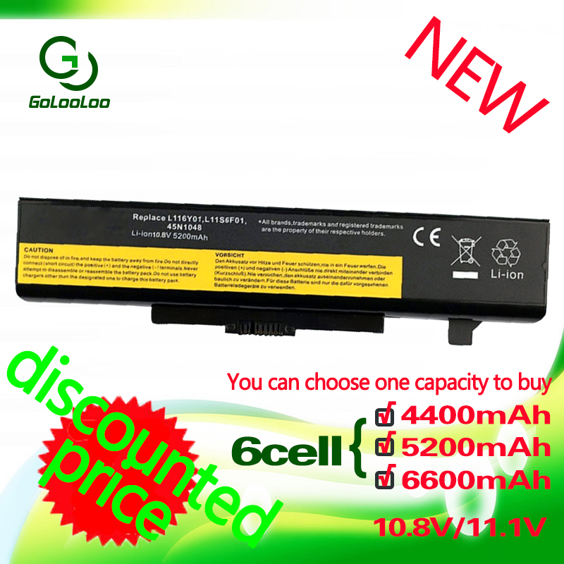Golooloo 6 cells Battery for LENOVO 121500049  L11L6F01  L11S6F01 ASM 45N1048 L11O6Y01 L11S6Y01 FRU 45N1049 L11P6R01 L116Y01|lenovo g580 battery|lenovo y480 battery|battery lenovo g580 - title=