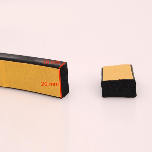 2m x 20mm x 10mm self adhesive flat rubber foam door window insulation seal strip for & 2m x 20mm x 10mm self adhesive flat rubber foam door window ...