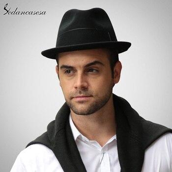 019a1e5e0 Plumas moda Fedora sombreros para hombres Australia sombrero de fieltro de  lana de la Iglesia caballero de alta calidad caliente Otoño Invierno  sombrero ...