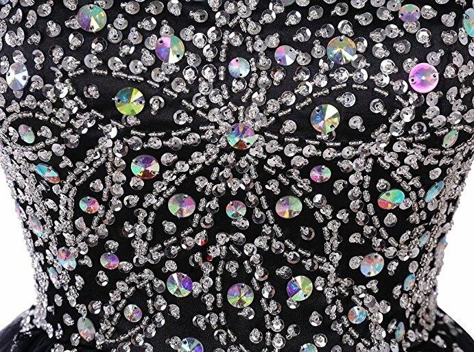 d95cba9b1 Negro barato modesto Vestidos cortos de graduación 2018 cristales espalda  en V vestido de fiesta de China para graduación Vestidos de Gala Jurken  hecho a ...