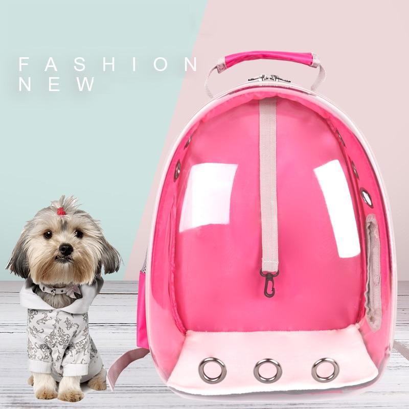 Cat Travel Bag Transparent Dog Carrier Bag Portable font b Pet b font Shoulde Backpack for