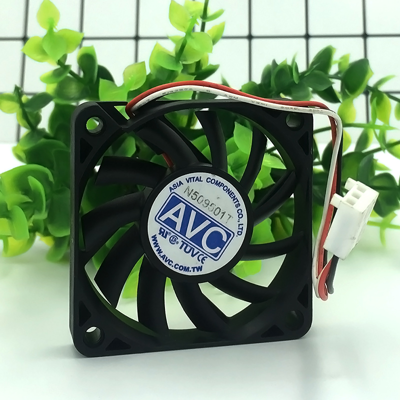 AVC F6010B12HS 12V 0.19A 3-pin <font><b>6010</b></font> 60x60x10mm 6cm server cooling <font><b>fan</b></font> image