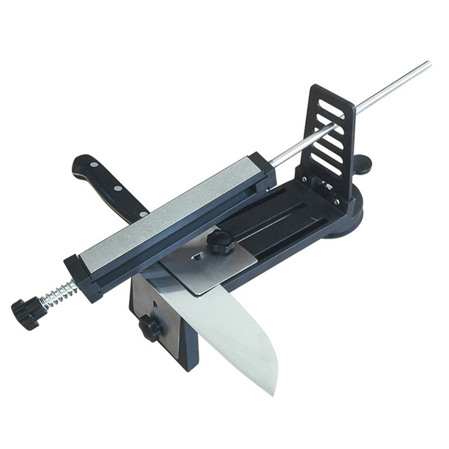 Stainless Steel Professional Kitchen Knife Sharpener System Machine Fix-angle Diamond Sharpening Tool Sharpener Stone Whetstone