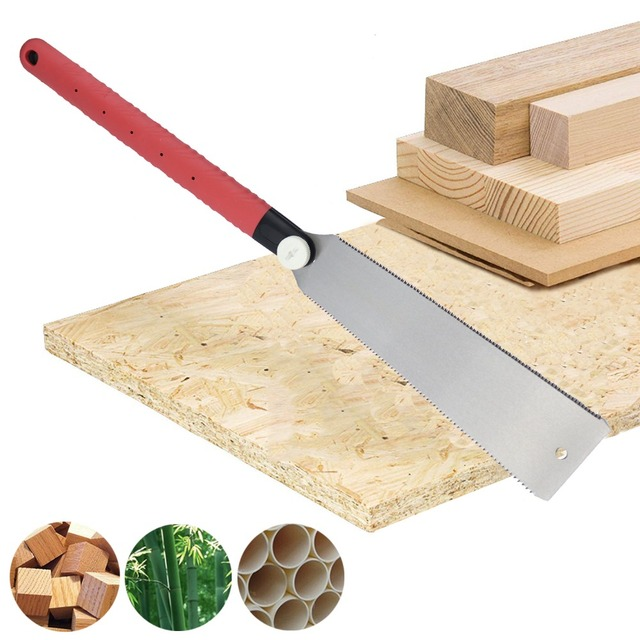 3-edge Teeth Hand Saw Pull Razor Saw Medium Crosscut Saw For Garden Pruning Wood Bamboo PVC Plastic Cutting Woodworking Tools