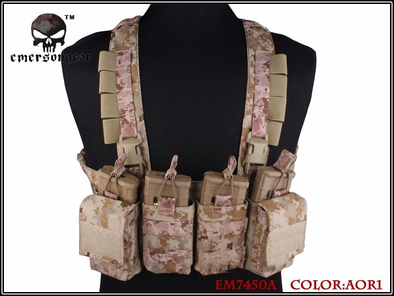 ФОТО Airsoftsports Tactical Airsoftsports Tactical Guns Emerson Gear Easy Chest Rig Multicam Vest Airsoft Military Combat Aor Em7450