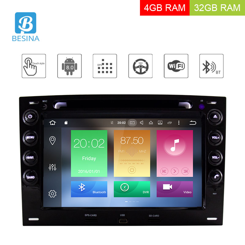 Android 8,0 dvd плеер автомобиля для Megane Fluence 2003 2010 Wi Fi Bluetooth Canbus gps навигация fm радио 4G Оперативная память Octa ядер стерео