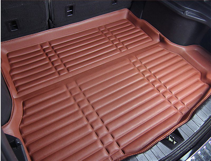 Fit Car Custom Trunk Mats Cargo Liner For Audi A4 2008 2016 Years 2014 2015 Car styling 5D Carpet Rugs High Side Waterproof