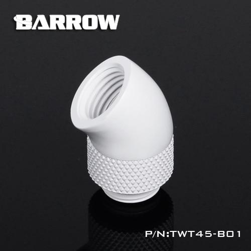 Купить с кэшбэком BARROW Gold Black Silver G1/4'' thread 45 degree Rotary Fitting Adapter Rotating 45 degrees water cooling Adaptors TWT45-B01