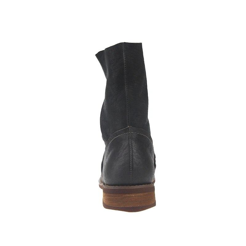 2018 χειμωνιάτικες δερμάτινες μπογιές - Γυναικεία παπούτσια - Φωτογραφία 5