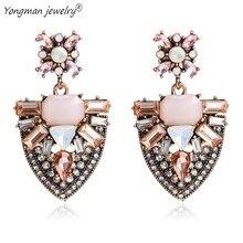 hot deal buy yongman 2018 boho trendy earrings drop geometric pendant earrings for women gifts fashion statement jewelry earrings wholesale