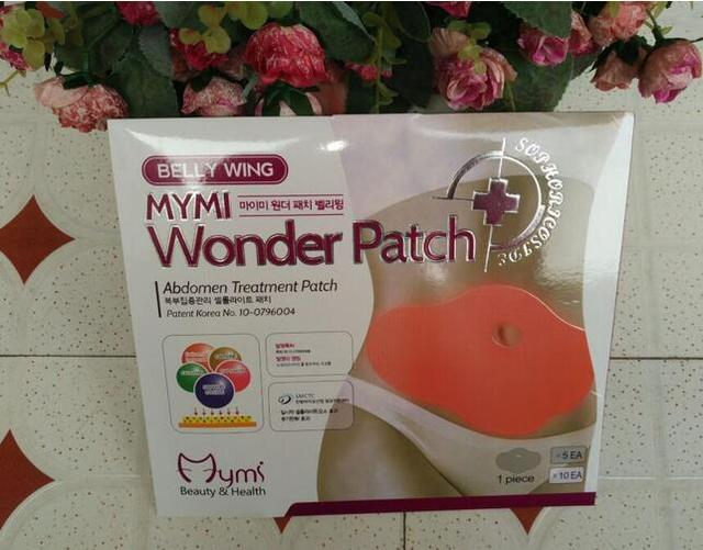 5 pieces/pack Hot Korea Belly Wing Mymi Wonder Patch Abdomen Treatment Patch Weight Loss Fat Burning Slimming Stomach Patchs