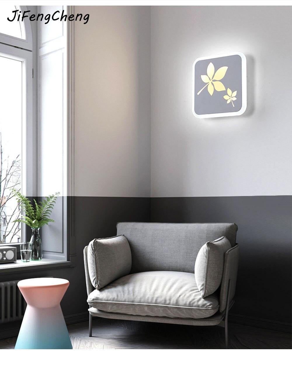 220 В современный минималистский ночники Спальня настенный светильник Персонализированные Акриловые дорожки Лестницы Подсветка салона ...