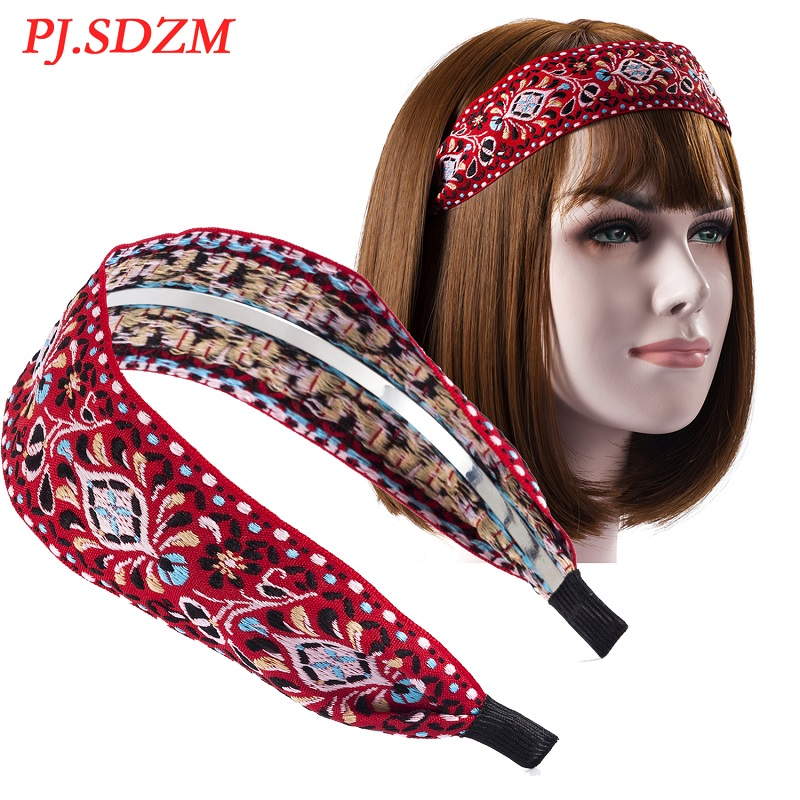 Metal Chic Fabric Hair Accessories Retro National Style Women Hairband All Match Comfortable Female Hair Decoration Trend