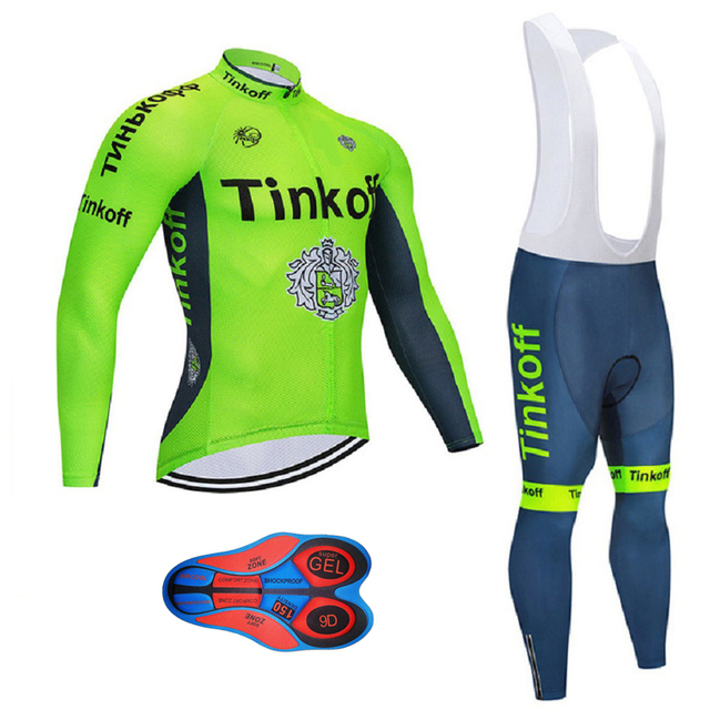 Cycling jersey 2019 Tinkoff fluorescent green winter thermal fleece bicycle  clothing ropa ciclismo hombre MTB bike 04b2c84aa