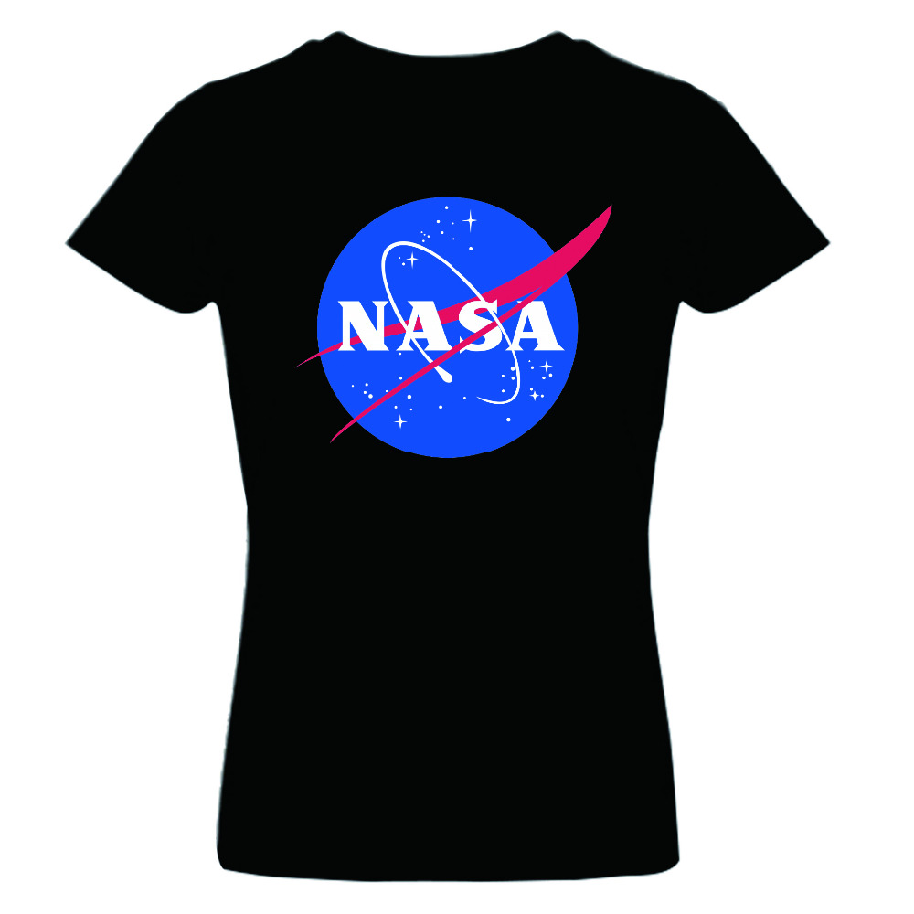 New 2015 Summer Women s T Shirt Fashion NASA T Shirt Distressed Tee  Discovery Apollo Astronaut Top Tee Gift Free Shipping-in T-Shirts from  Women s Clothing ... 31cc31175855