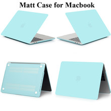 Matte Cover untuk MacBook Air 11 13 Retina 12 13.3 15 Pro 13 15.4 Touch Bar A1706 A1989 A1707 Tidak Ada touchbar A1708 Case Shell Tas(China)