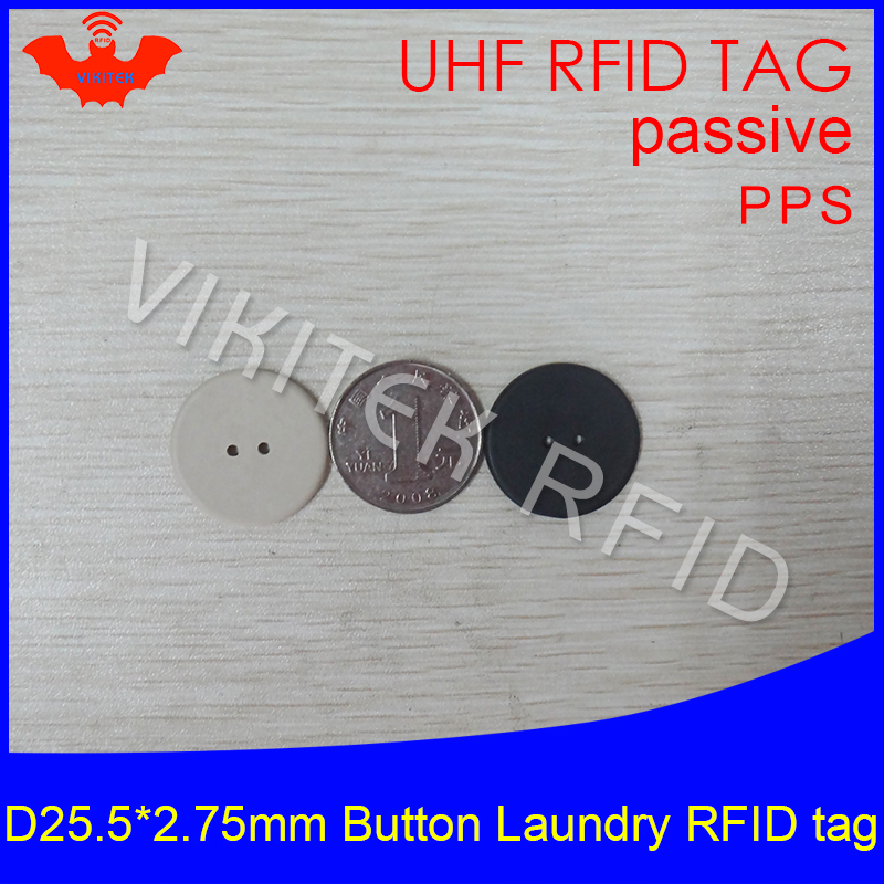UHF RFID tag laundry PPS button Washable heat resisting 915m 868m 860-960M Alien Higgs3 EPC Gen2 6C smart card passive RFID tags 100pcs high temperature resistant uhf rfid pps laundry tag small with alien h3 chip used for laundry management