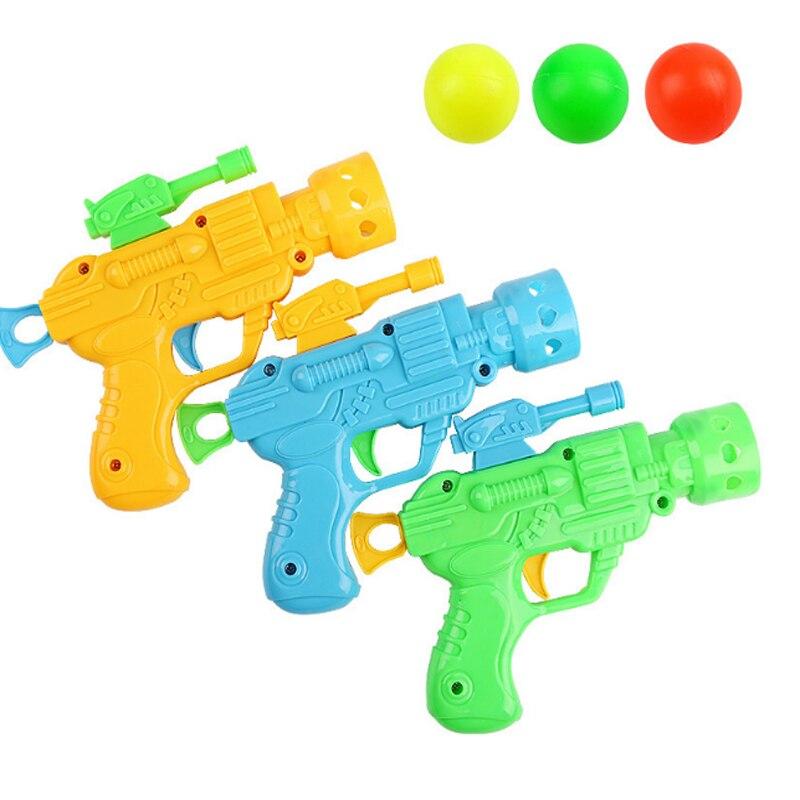 1 Pcs/set New Children Toy Gun Elastic Table Tennis Gun Creative Novelty Kid Child Interest plastic Pistol Toy For Children
