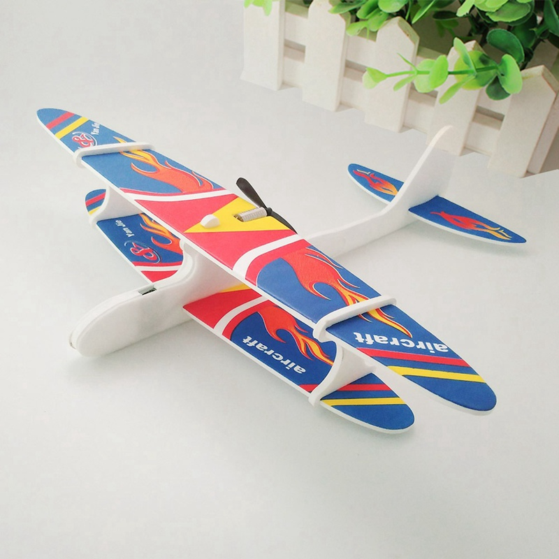 1Pcs Hand Throwing 3D Gliding Foam Aircraft Inertial Foam Airplane Model Plane Model Outdoor Educational Toys For Children model aircraft