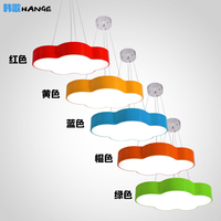 A1 Children Color Cloud Chandelier Simple Modern Led Bedroom Room Lamp Creative Personality Kindergarten Playground Lamp