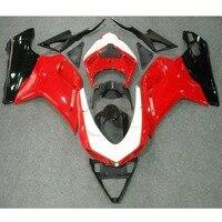 Красные, Черные ABS обтекателя кузова Комплект для Ducati 1098 848 1198 2007 2012 инъекции мотоциклов