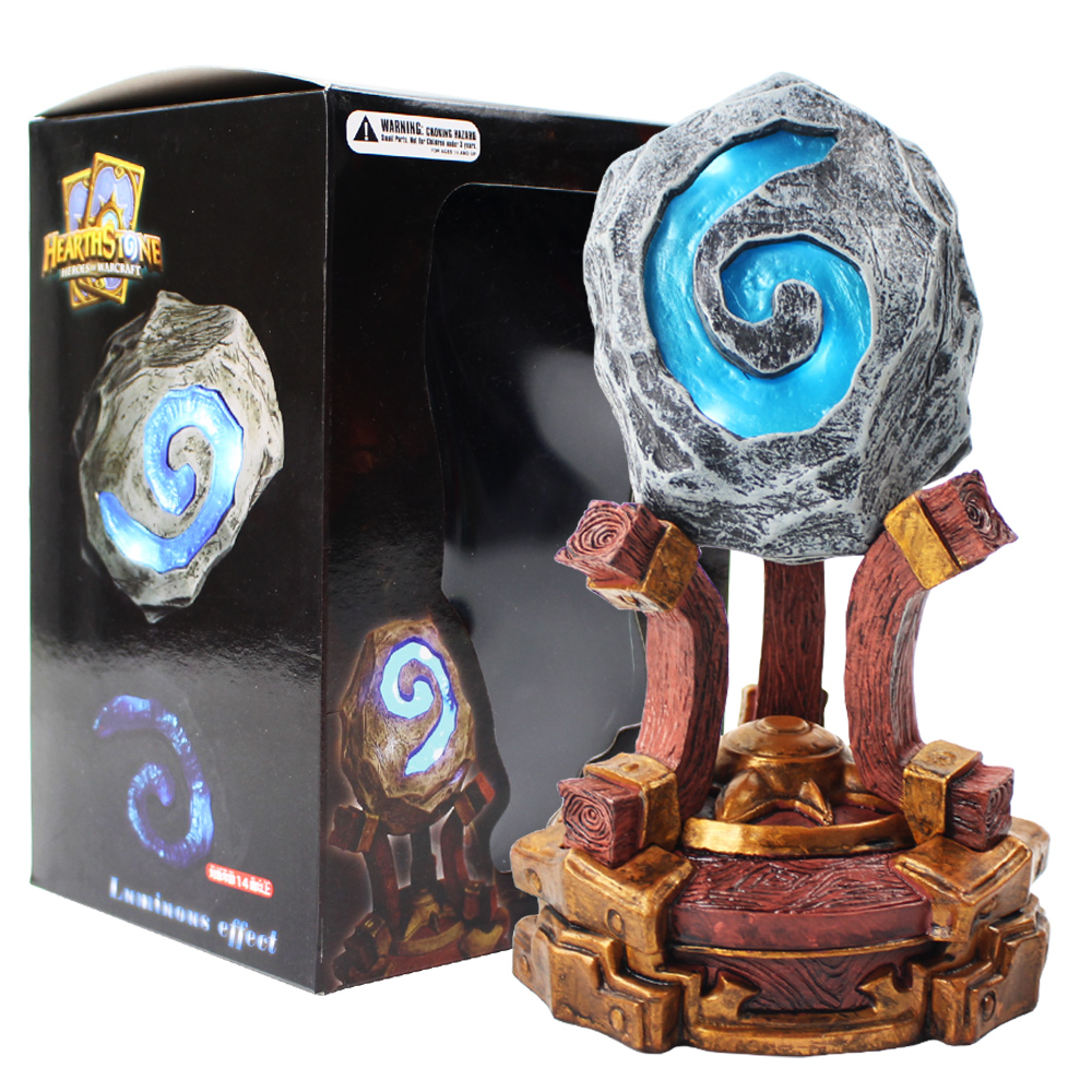19cm Game HearthStone with LED Light PVC Action Figure Collectible Model Decoration Toy
