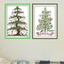 Joy Sunday,Christmas tree,cross stitch embroidery set,printing cloth kit,needlework,Christmas style cross