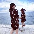 Соответствия Мать Дочь Платья 2016 Новая Мода Clothing Мама И Дочь Платье Девушки Одеваются Одежды Соответствия Семьи