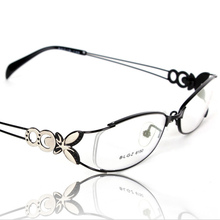 eye glasses frames for women red alloy full frame oval frames optical glass Myopia lenses butterfly model light 6150