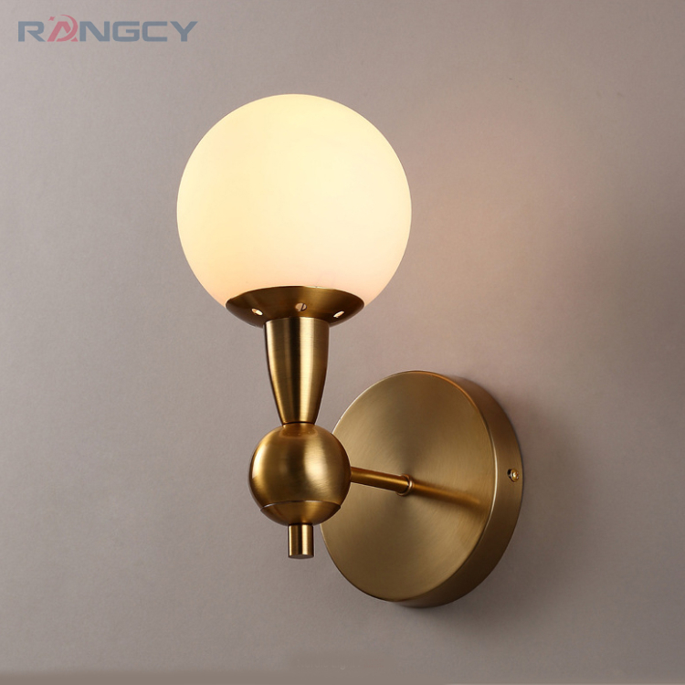 New arrival unique and novelty led wall lamps glass ball wall lights for home AC85-265V Indoor Lighting Wall Sconce