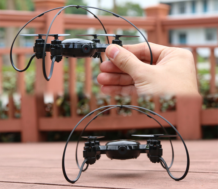Mini pocket rc drone can with HD camera Wifi FPV Helicopter RC Quad Copter dron remote control electric toy for children