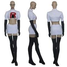 Pokemon Team Rocket Jesse Cosplay Costume