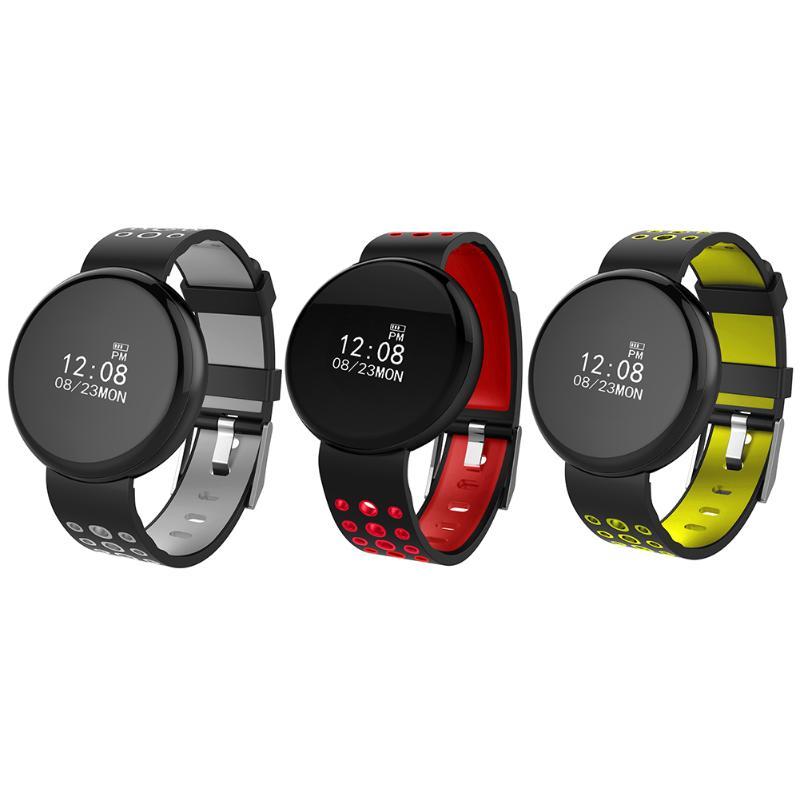 0.66 дюймов OLED Водонепроницаемый Bluetooth Приборы для измерения артериального давления сердечного ритма Мониторы Смарт наручные часы rpund touch бра...